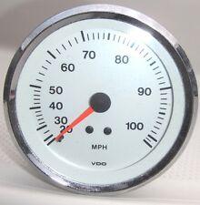 # 1 108 099 994 NEW VDO 20 - 100 MPH Speedometer White Gauge FREE SHIP!