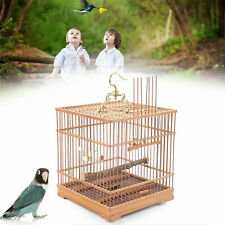 New listing Square Bamboo Bird Cage Chinese Wooden Pet Nest Home 0.433-0.472 inches