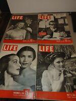 Life magazine lot 1942 To 1947 4pcs coke camel chesterfield ad magazine