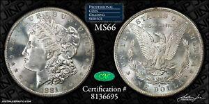 1881-S Morgan Dollar PCGS Rattler MS-66 CAC
