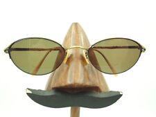Vintage Oliver Peoples OP-87 Gold Metal Oval Half-Rimmed Sunglasses Frames Japan