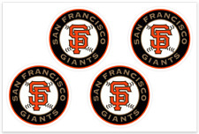 (4) San Francisco Giants MLB Decals / Yeti Stickers *Free Shipping
