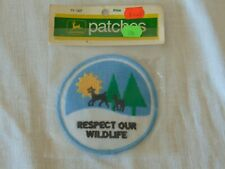 1972 JOHN DEERE PATCHES RESPECT OUR WILDLIFE  TY1307 PATCH ORIGINAL PACKAGE