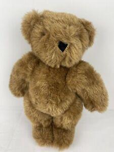 "Vermont Teddy Bear Company Jointed Honey Brown Fur 11"" Tall Stuffed Animal Cute"