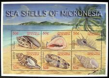 2002 MNH MICRONESIA SEA SHELL STAMPS SHEET COAST MARINE SEA LIFE OCEAN BEACH