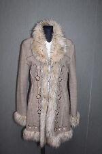 CHRISTIANIA  Norway Damen Jacke Mantel L Blumen bestickt 100% Wolle AA18