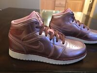 New Nike Air Jordan 1 Mid Pink Sneaker Shoes Size US 8.5