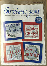 CROSS STITCH CHART 4 Christmas Card Designs Holly Star Snowflake PATTERN ONLY