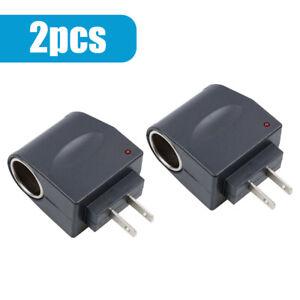 2x 110V-240V AC Plug To 12V DC  Car Cigarette Lighter Converter Socket Adapter