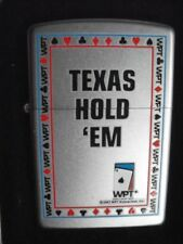 TEXAS HOLD ' EM ZIPPO LIGHTER WORLD POKER TOUR WPT ACE SPADES COLLECT RARE NEW