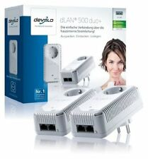 Devolo dLAN 500 duo+ Starter Kit Set 500 Mbit 2 Powerline Adapter Steckdose 9129