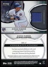 2011 Bowman Sterling JUSTIN TURNER Rookie RC Jersey Relic #JT Dodgers Star Rare