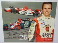 2004 DAN WHELDON SIGNED AUTOGRAPHED IRL PROMO PHOTO CARD & COA INDY 500 RACING