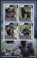 CENTRAL AFRICA 2015 GORILLA  SHEET MINT NH
