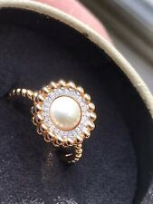 Links Of London Efferverscence 18ct Rose Gold And Diamond Ring Size N Boxed