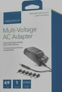 Insignia AC to DC Power Adapter with 7 Connector Tips NS-AC1200