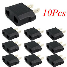 10pcs European Euro EU to US USA Plug Travel Charger Adapter Outlet Converter