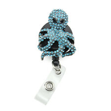 Silver Tone Alloy ID Badge Holder Reel Nurse Animal Octopus  ID Name badge reel