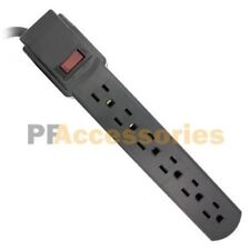 1 FT 6 Outlet Safety Surge Protector Angle Plug AC Wall Power Strip Black UL