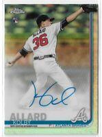 2019 Topps Chrome Baseball Rookie Autograph Kolby Allard Refractor 387/499