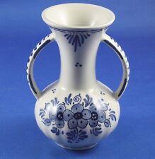 Delft Blue Vase with Handles Keramische Industrie M. De Wit Holland Hand Painted