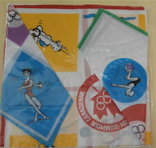 1976 Olympic Handkerchiefs - (8 Sports Shown on Each)  Montreal Canada  Set of 3