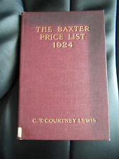 """The Baxter Price List 1924 - Supplement to """"George Baxter the Picture Printer"""""""
