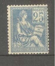 "FRANCE STAMP TIMBRE N° 114 "" MOUCHON 25c BLEU TYPE I 1900 "" NEUF xx TTB"