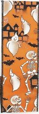 Halloween Orange Ribbon w Skeleton design 2.5in 25yds 90023w wreath decoration