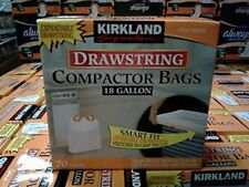 NEW Kirkland Compactor Bags 18 Gallon Smart Fit Gripping Drawstring 70 ct