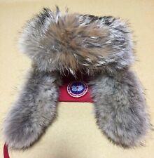 canada goose aviator hat fur cap Red S-M size