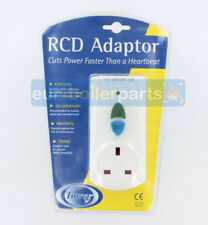 Faithfull RCD Electric Residual Circuit Breaker Safety Wall Plug Adapter White