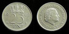 Netherlands - Juliana 25 Cent 1969 (haan)