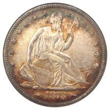 1873 Arrows Seated Liberty Half Dollar 50C - ANACS XF40 (EF40) - Rare Coin!