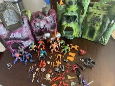 Vintage He-Man MOTU Action Figures Lot Castle Skeletor Playsets Parts More HUGE