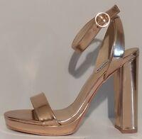 """NEW!! Steve Madden Klari Rose Gold Sandals 5"""" Heels Size 8.5M US 38.5M EUR"""