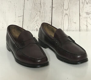Bass Weejuns Men's Classic Burgundy Penny Loafers Moccasin Leather shoes Size 9D