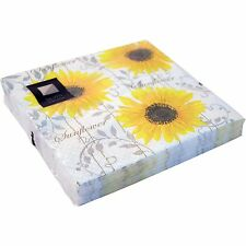 20 x Yellow Sunflower 3 Ply Paper Napkins 33cm x 33cm Party Serviettes Tableware