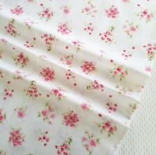 1 Yard 100% Cotton Shabby Chic Pink Floral Flower Rose Fabric By the Yard Style