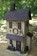 New listing Primitive Birdhouse , Rustic Birdhouse , Functional Birdhouse , Farmhouse