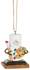 Smores Snowman ARTIST with Painter's Pallet Christmas Ornament, by Midwest CBK