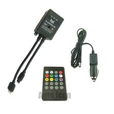One Set Wireless Music RGB Strip Lights Remote Controller With Cigarette Adapter