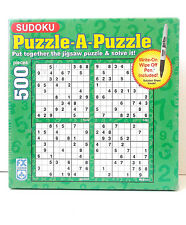 Sudoku Puzzle-A-Puzzle 500 Pieces  Puzzle-Write on & Wipe Off Pen Included!-New