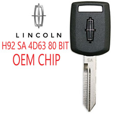LINCOLN H92 Transponder Key 80 BIT SA OEM Chip Guranteed to Program A++