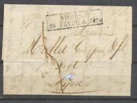 1828 Lettre Cachet d'essai Nismes 29/20 Fevrier 1828 GARD(29) X1408