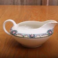 Vtg French Saxon China Floral Garland Pattern Cream