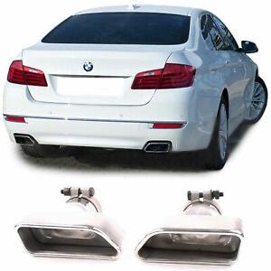 Auspuff Endrohre Edelstahl 8 Zylinder Optik für BMW 5er F10 F11 6er F12 F13