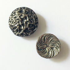 2 Boutons Anciens - Couture - 24 & 20 mm