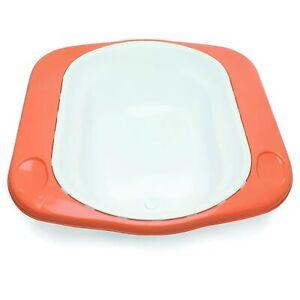 The Neat Nursery Co. Supabath Baby Bath With Soap Dish And Plug White / Orange