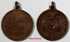 CHILE MEDAL 1921 American Fleet Medal Named Poblete 29 mm